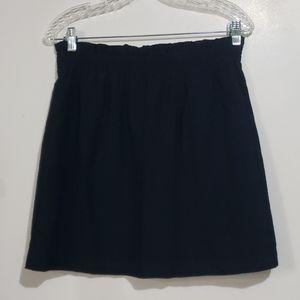 J.Crew Navy Skirt Elastic Waist Fully Lined Sz 10